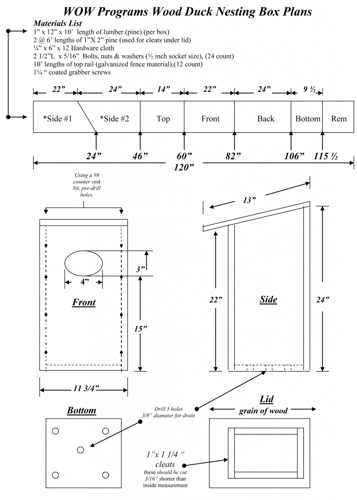 Blog Archive » Wood Duck Box Plans