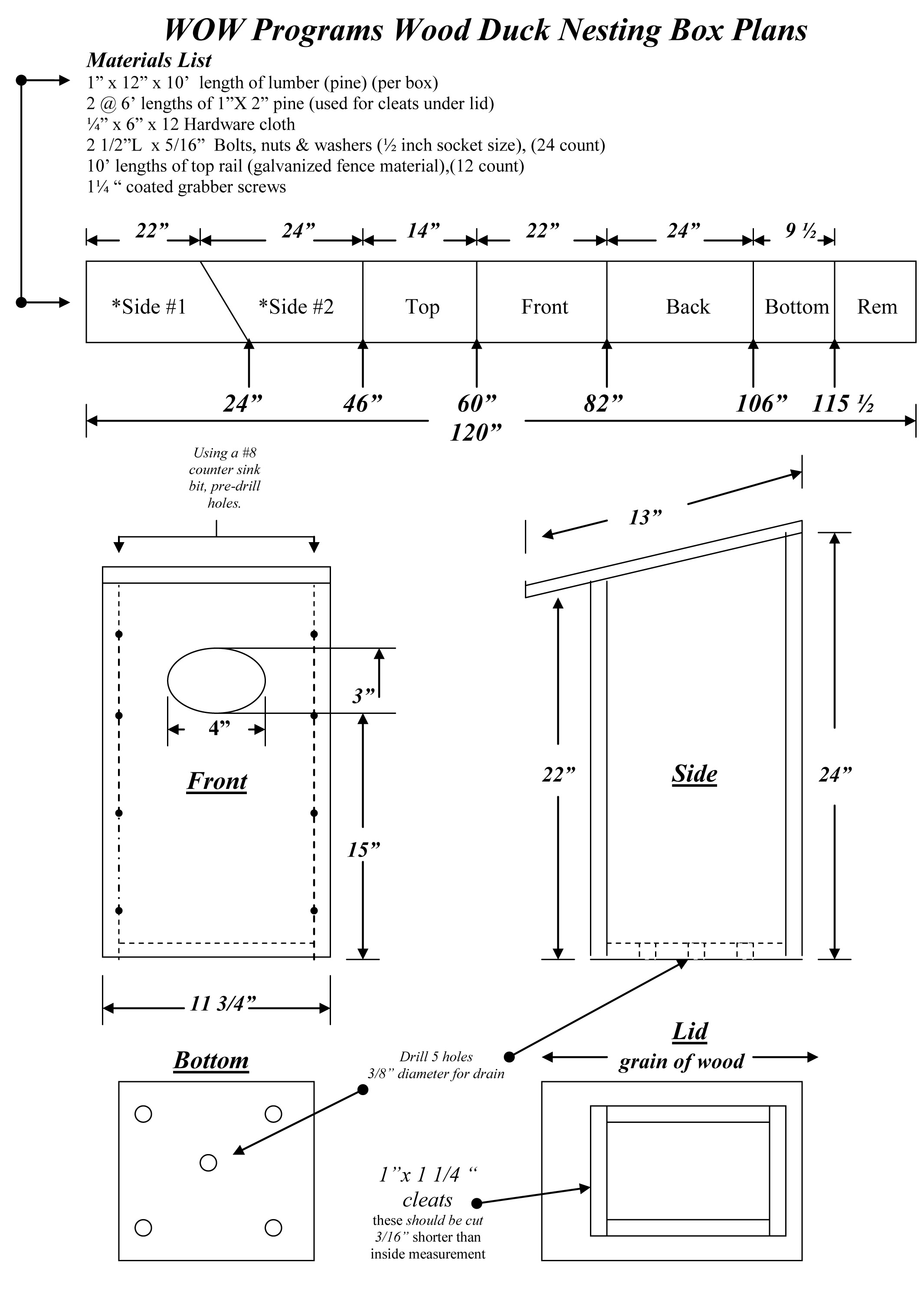Wood Duck Box Plans Free PDF Plans wood dog crate furniture ...